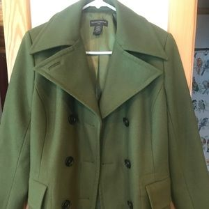 Banana Republic pea coat. Green. Great condition!